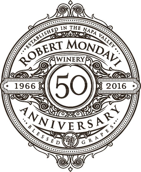 Robert Mondavi Winery 50th Anniversary Logo